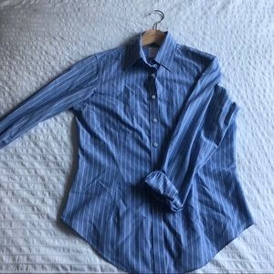 Brooks Brothers Blue&White Pinstriped Buttonup